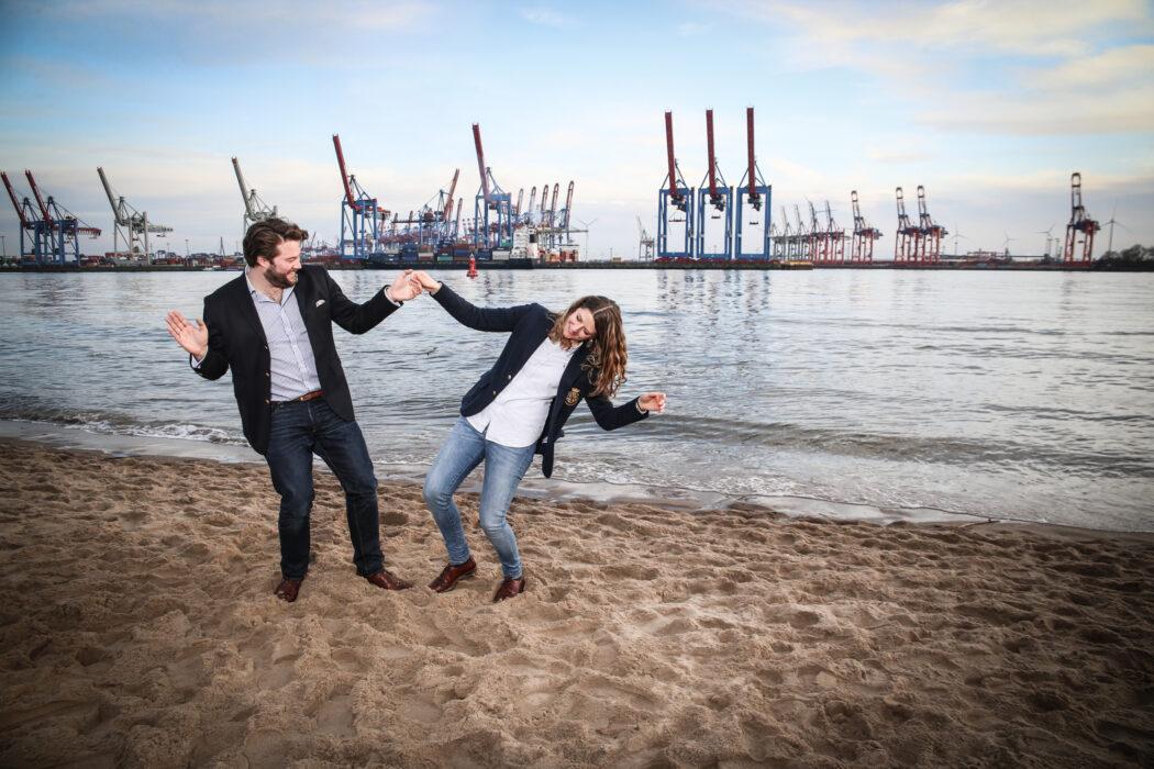 <h5>Knotentanz Fotoshooting, Hamburg, 18.02.2018 Carina Fronzeck und Tim © Torsten Helmke</h5>