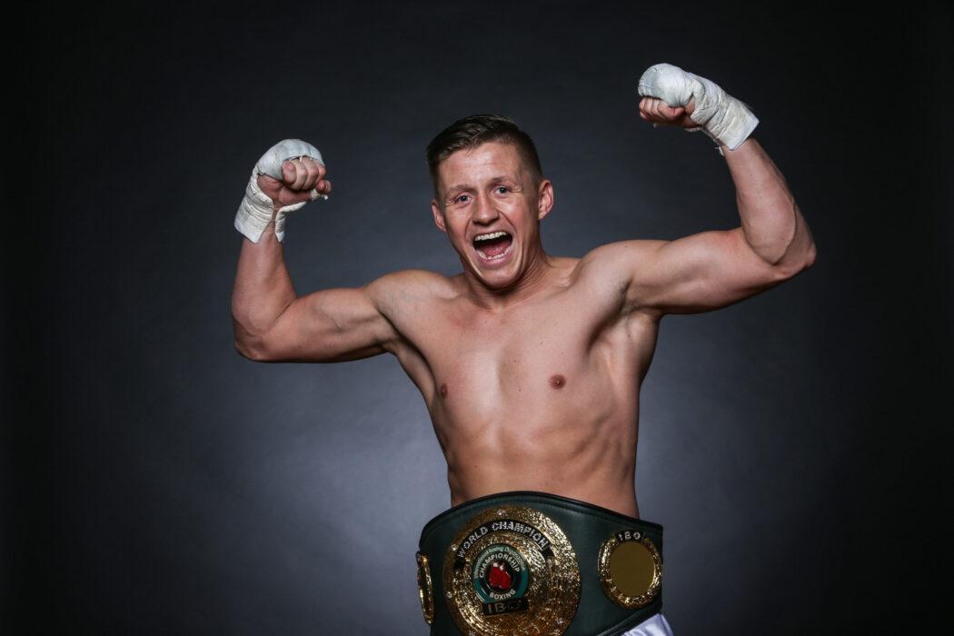 "<h5>BOXEN: EC Boxing, Studioproduktion, WInsen, 04.01.2020 IBO-Weltmeister: Sebastian ""Hafen Basti"" Formella (Deutschland) © Torsten Helmke</h5>"