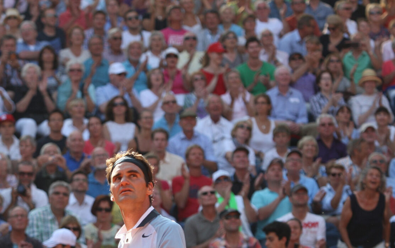 <h5>Tennis: bet-at-home Open 2013, Hamburg, 18.07.2013 Roger Federer (SUI) ©Torsten Helmke</h5>