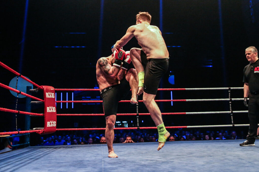 <h5>K1: Get in the Ring 17, Hamburg, 04.11.2017 86 Kg: Sascha Valentic (Hamburg West Fight Elite) - Chris Juers (Thaiholics) © Torsten Helmke</h5>