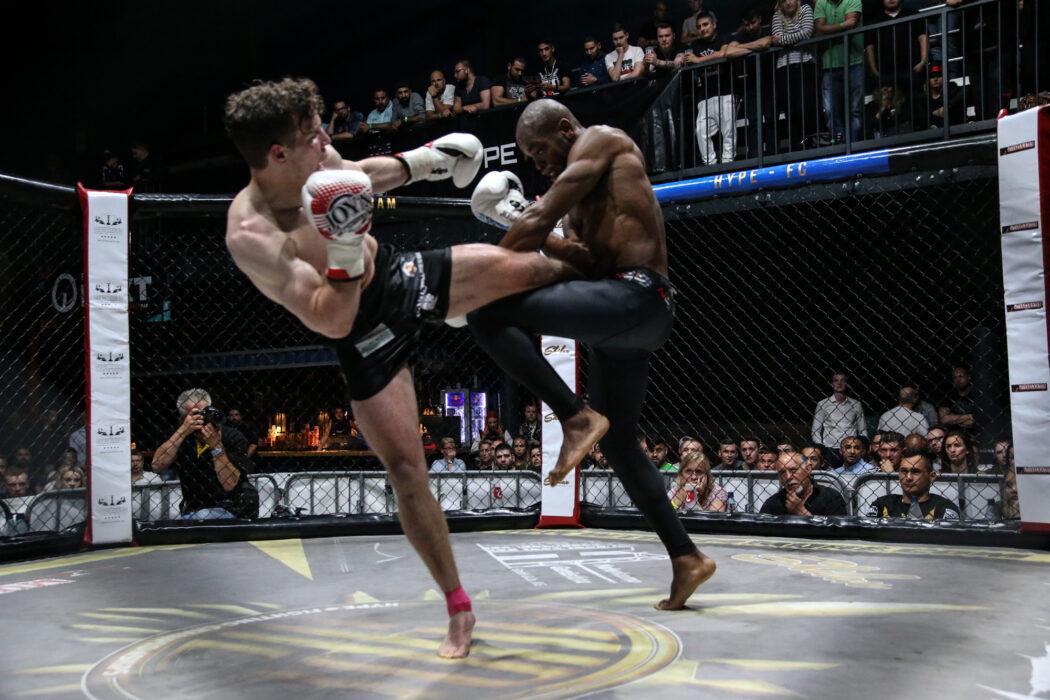 <h5>Hype FC: Boxen, K1, MMA, Bremen, 12.05.2018 K1:  Kevin Burmester - Marcelino Kemna © Torsten Helmke</h5>