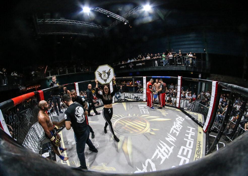 <h5>Hype FC: Boxen, K1, MMA, Bremen, 12.05.2018 K1, Turnier 72 KG, Halbfinale: Florian Schoepp (Gym Ardalan) - Andre  (Power House) © Torsten Helmke</h5>